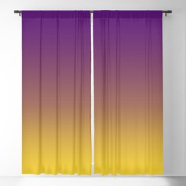 purple yellow gradient Blackout Curtain