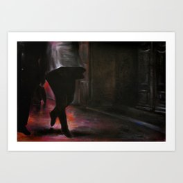 Walking on air, 2014, 120-80cm, oil on canvas Art Print