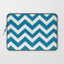 CG blue - ble color - Zigzag Chevron Pattern Laptop Sleeve