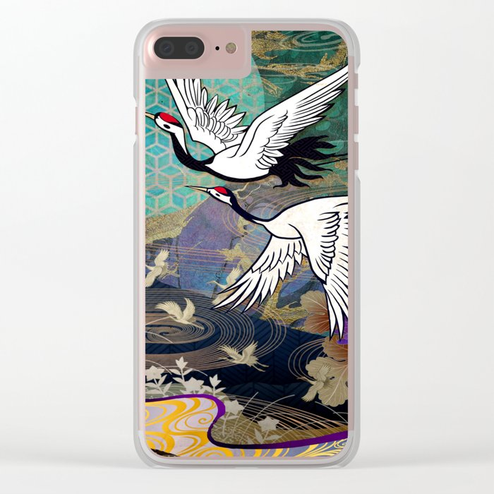 Nature abstract Clear iPhone Case