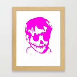 skeleton Boy Framed Art Print