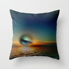sundown surreal Throw Pillow