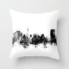 Tehran Iran Skyline Throw Pillow