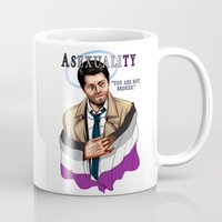 asexual Mugs featuring Fandom Pride : Asexuality by Cinensis