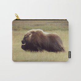 Muskox on the move \ wildlife Carry-All Pouch