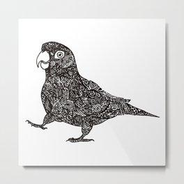 Complex Parrot Metal Print