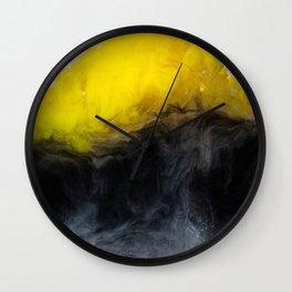 Vivid Mix Of Ink Clouds Wall Clock
