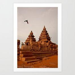 Indian Shore Temple Art Print
