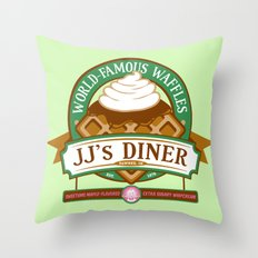 JJ's Diner Throw Pillow