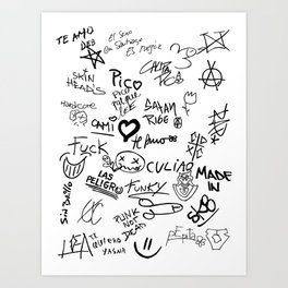 Graffitis Art Print