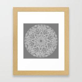 Family: forever intertwined (gray) Framed Art Print