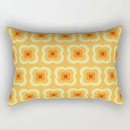 Yellow Retro Flower Pattern Rectangular Pillow