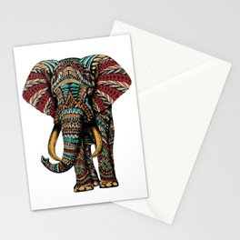 Ornate Elephant (Color Version) Stationery Cards