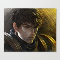 league of legends Canvas Prints featuring LEAGUE of LEGENDS - Garen by juhaihai