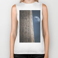 egyptian Biker Tanks featuring Egyptian Moon by Vin Zzep