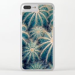 Cactic Clusters Clear iPhone Case