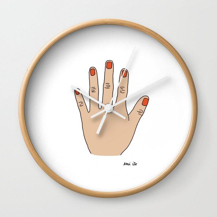 Painted Nails Wall Clock