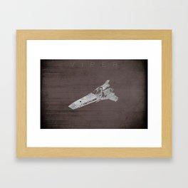 Battlestar Galactica BSG minimalist Viper Framed Art Print