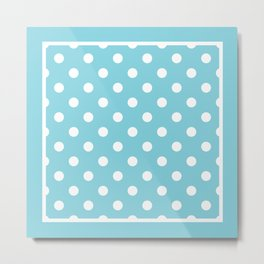 Blue Polka Dots Palm Beach Preppy Metal Print