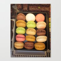 macarons Canvas Prints featuring Macarons by Catherine Heft