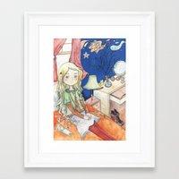 luna lovegood Framed Art Prints featuring Luna Lovegood by malipi
