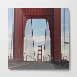 Golden Gate Bridge Photography, Empty Bridge, California, San Francisco Art, City Decor, Architectur Metal Print