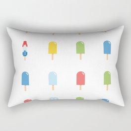 Popsicle Pattern - Bright Random Pops #609 Rectangular Pillow
