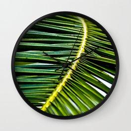 Magic Green Palm Leaves Wall Clock