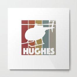 Hughes Pilots Vintage Helicopter For Men Metal Print