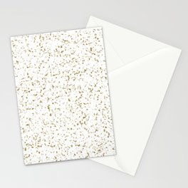 Brown and White Marble Stationery Cards