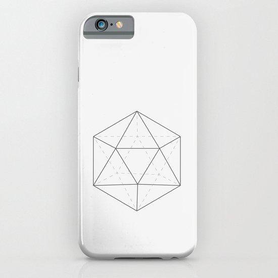 Black & white Icosahedron iPhone & iPod Case