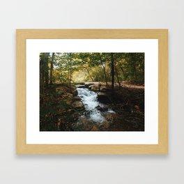 October rushing river Framed Art Print