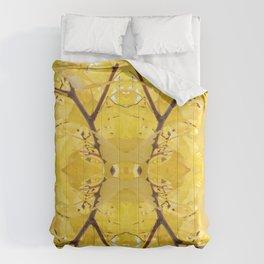 Abstract Gingko Mandala 1560 Comforters