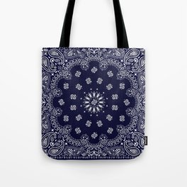 Paisley - Bandana - Navy Blue - Southwestern - Cowboy Tote Bag