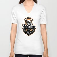 the goonies V-neck T-shirts featuring The Goonies by Buby87