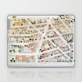 Greenwich Village Map by Harlem Sketches Laptop & iPad Skin
