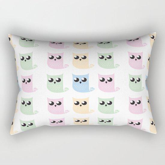 Pastel Mer-owls Rectangular Pillow