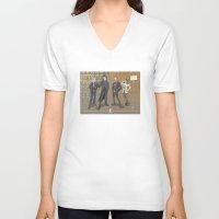 sherlock V-neck T-shirts featuring Sherlock by Fernando Cano Zapata