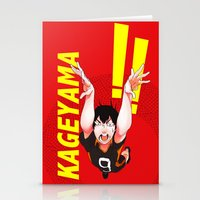 haikyuu Stationery Cards featuring Haikyuu!! Intense Kageyama!! by f-premaur