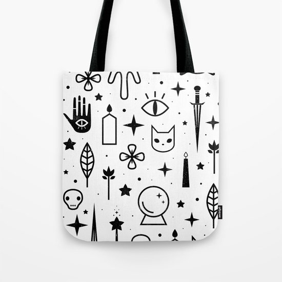 Spirit Symbols White Tote Bag