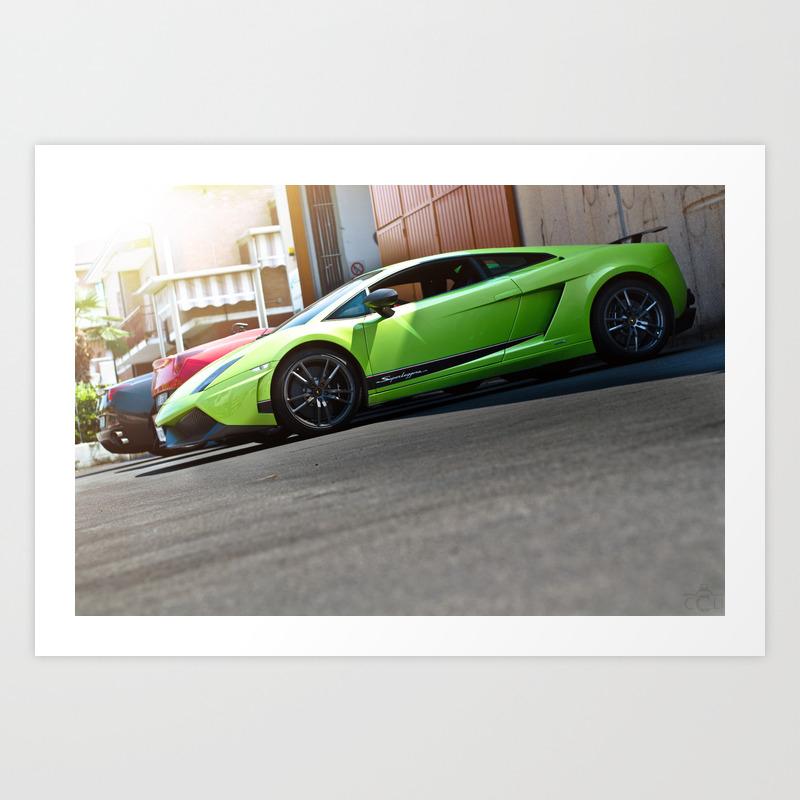 Lamborghini Gallardo Lp570 4 Superleggera Car Supercar Art Print