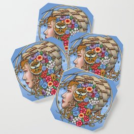 Beatrix Bee Queen by Bobbie Berendson W Coaster