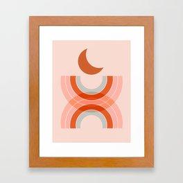 Cradle the moon - twilight Framed Art Print