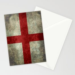 Flag of England (St. George's Cross) Vintage retro style Stationery Cards