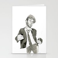 tom waits Stationery Cards featuring Tom Waits: The Early Years by Andy Christofi
