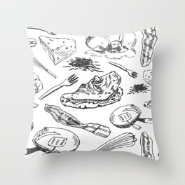 Oh My Omelets Throw Pillow
