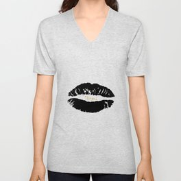Society6 Loving lips Unisex V-Neck