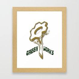 Green Works Framed Art Print