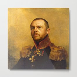 Simon Pegg - replaceface Metal Print