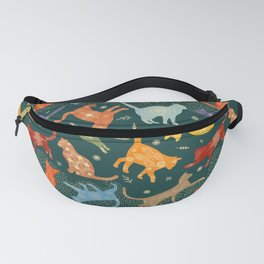 """Gouache cats in """"Pysanky"""" style Fanny Pack"""